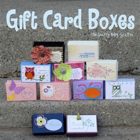 who makes gift cards how to make a gift card box the crafty stalker