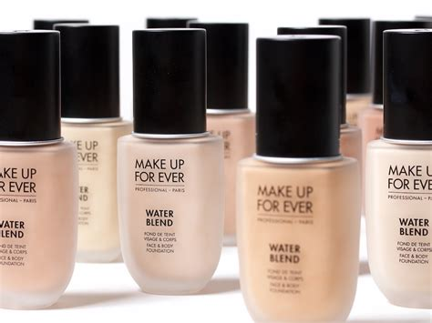makeup forever make up for water blend foundation review