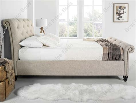 style bed frames kaydian belford chesterfield style fabric bed frame buy