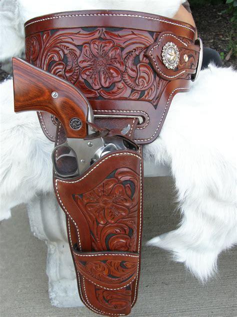leather gun belt and holster custom tooled leather buscadero gun belt leather holster