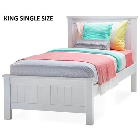 white size bed snow king single size wooden bed frame in white buy king