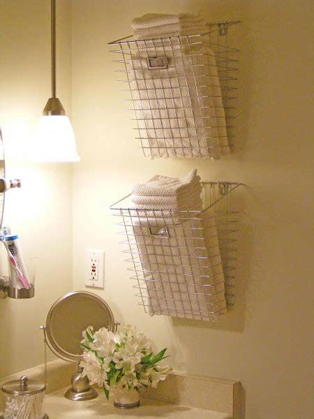 Bathroom Basket Ideas by Bathroom Towel Storage 12 Creative Inexpensive Ideas