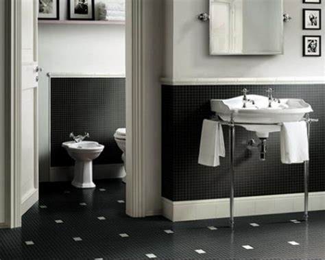 Black And White Bathroom Tile Ideas by Bathroom Black And White Ceramic Tile Home Design Ideas