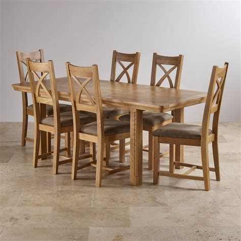 oak dining table set canterbury extending dining set table 6 fabric chairs