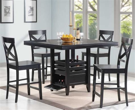 dining room table black black counter height dining room set