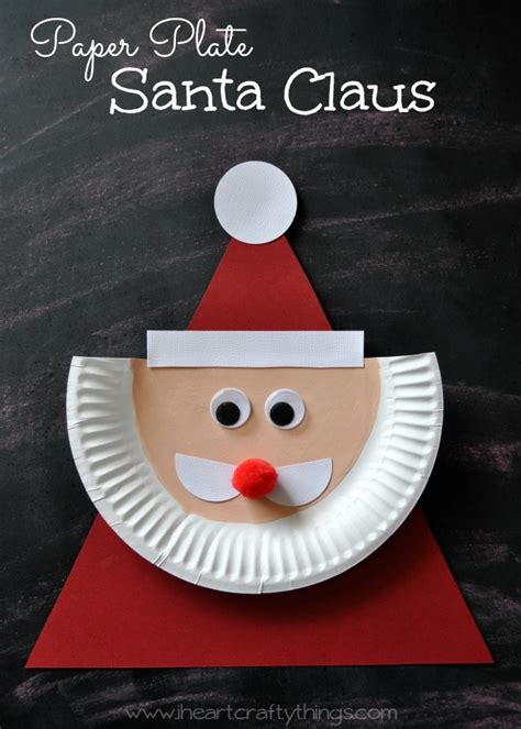 santa claus craft for i crafty things paper plate santa claus