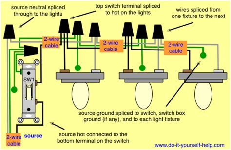 How To Wire A Light Fixture Light Switch Wiring Diagrams Do It Yourself Help