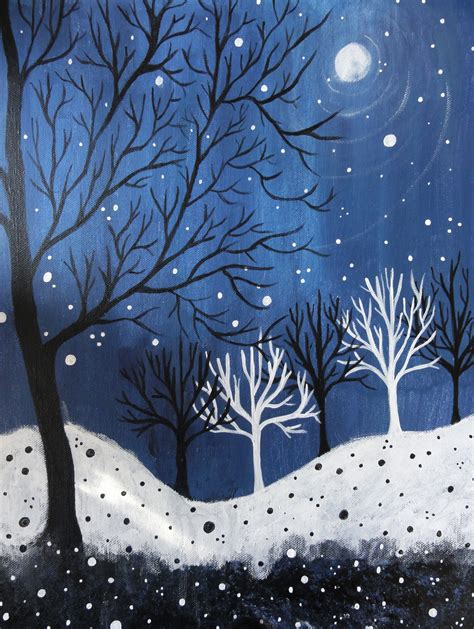 acrylic painting winter pin by margie manifold on winter in