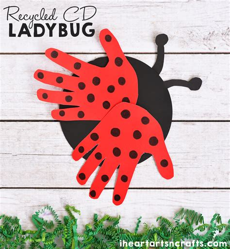 ladybug craft for recycled cd ladybug craft for i arts n crafts
