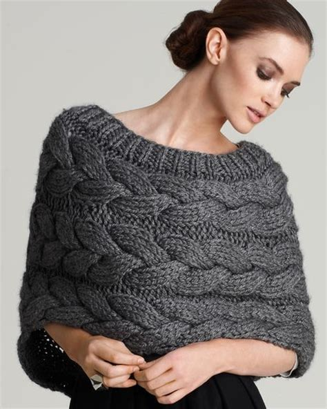 how to knit shrug adam cable knit shrug in gray grey lyst