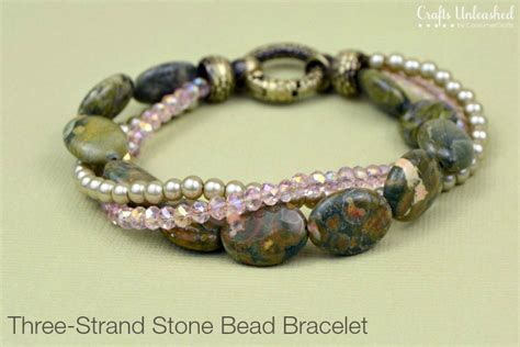 how to end a beaded bracelet diy bead bracelet three strand crafts unleashed