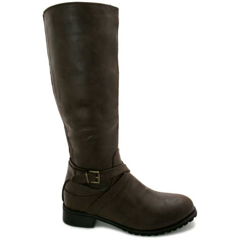leather knee high boots for buy cali block heel knee high boots leather style