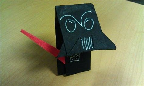 origami darth paper catch up on origami yoda s adventures in darth paper