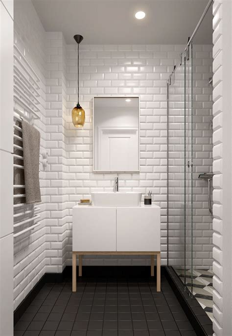 White Tile Bathroom by A Midcentury Inspired Apartment With Scandinavian Tendencies