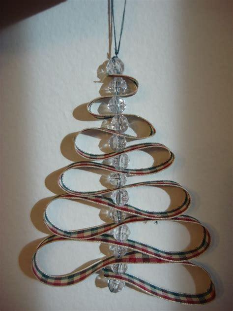 ribbon bead tree ornaments ribbon bead tree ornament crafts