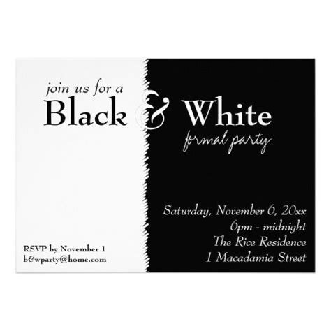 black and white theme black and white theme invitation black and white