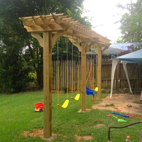 diy backyard swing 25 best ideas about swing sets on swing