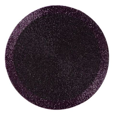 beaded placemats uk purple beaded placemat