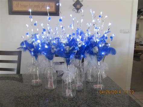 royal blue and silver centerpieces wedding quinceanera centerpieces silver and royal