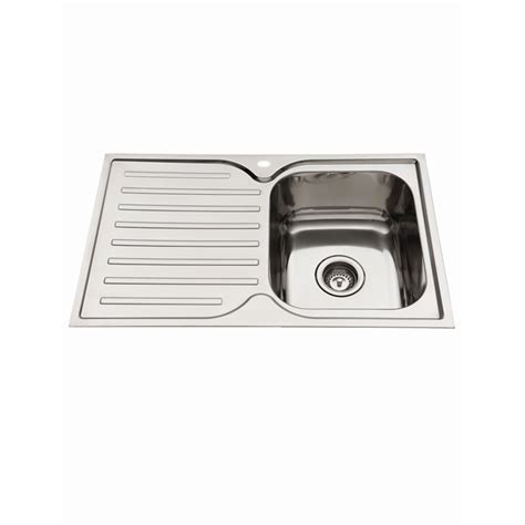 everhard kitchen sinks everhard 780mm squareline kitchen sink with single bowl