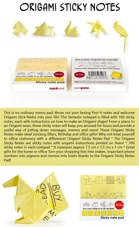 origami sticky notes top 10 stuffers