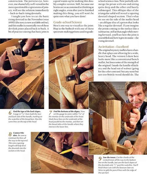 woodworking mallet plan wood mallet plans woodarchivist