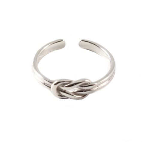 sterling silver charm school uk gt sterling silver toe ring gt reef knot design