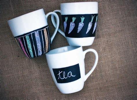 chalkboard paint mugs craft of the day make these chalkboard painted