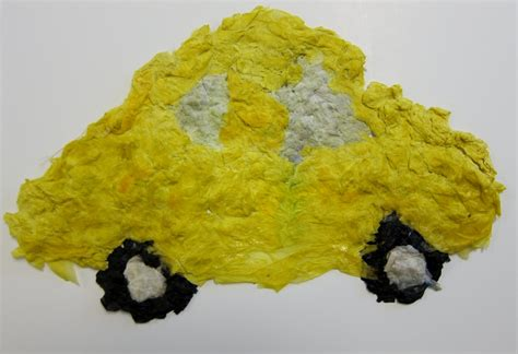 paper pulp craft paper pulp car family crafts