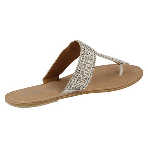 leather beaded sandals spot on leather collection beaded toe post sandals