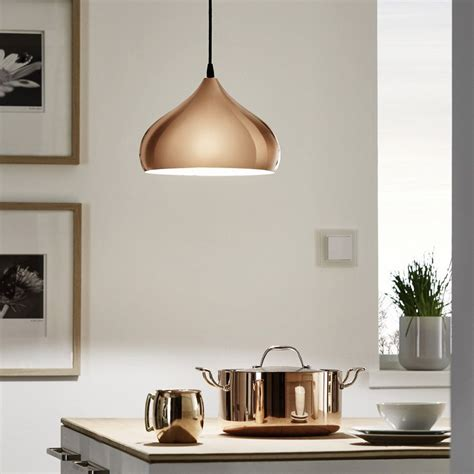 Eglo Esszimmerle by The Eglo Hapton Vintage Coppery Pendant Light Is A