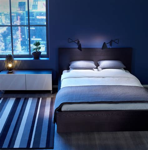 blue bedrooms blue bedroom idea with comfortable space design amaza design
