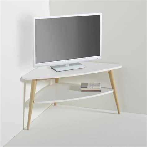 meuble tv d angle vintage plateau jimi blanc la redoute interieurs la redoute