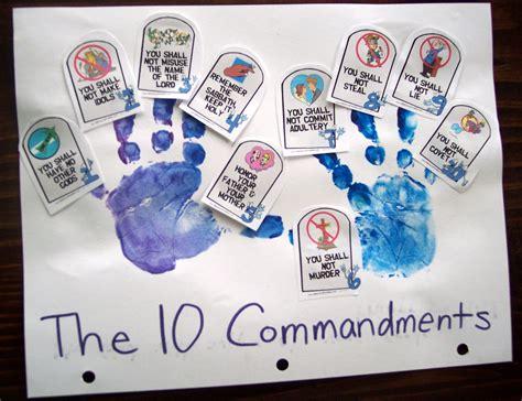 ten commandments crafts for ten commandments on 10 commandments craft ten