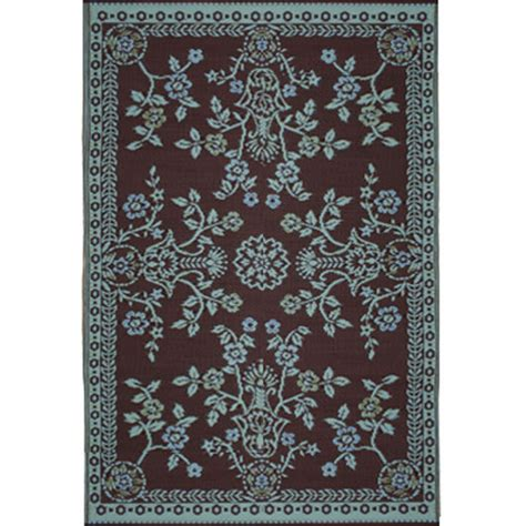 mad mats outdoor rugs mad mats garland teal brown 6x9 sku fm