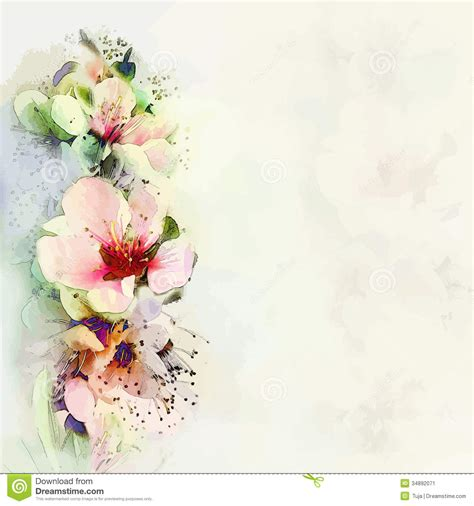 flowers for cards greeting floral card with bright flowers stock