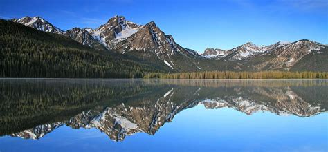 Posters Home Decor by Stanley Lake Sawtooth Mountains Photograph By Ed Riche