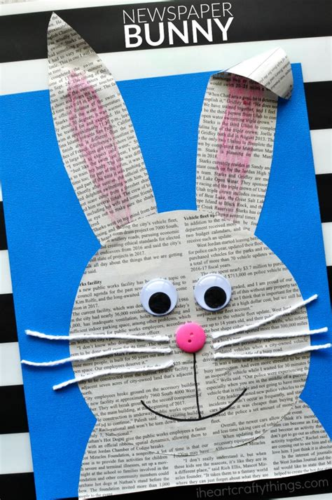 crafts with newspaper for simple and easy newspaper bunny craft i crafty things