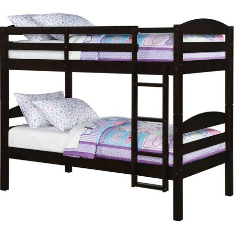 mainstays bunk bed mainstays wood bunk bed espresso bedroom