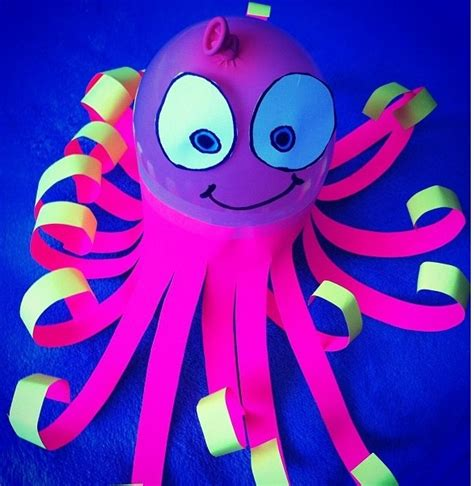 octopus crafts for octopus balloon craft creature crafts