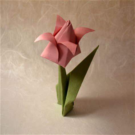 origami tulip flower origami tulip