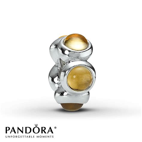 retired pandora jared pandora retired charm citrine sterling silver