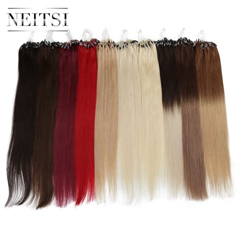 remy micro bead hair extensions neitsi indian loop micro ring hair 100 human