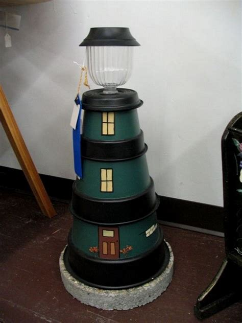 lighthouse craft project clay pot crafts ideas and inspirations