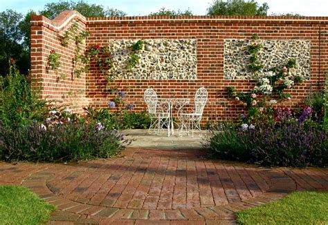 brick walls for gardens brickwork and flint panel walls by roger gladwell