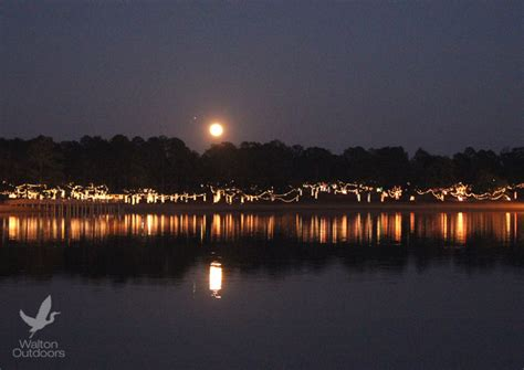 defuniak springs lights reflections light up the lakeyard in defuniak