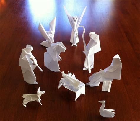 origami nativity 333 nativity setting the crease