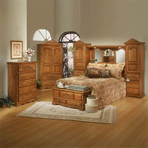 oak bedroom furniture oak bedroom furniture set county oak wood bedroom set