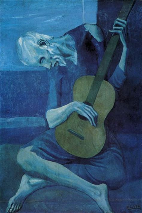 picasso paintings blue period guitar matthew the guitarist pablo ruiz picasso 1903