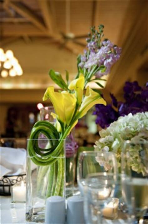 purple and yellow wedding centerpieces just centerpieces reception project wedding forums